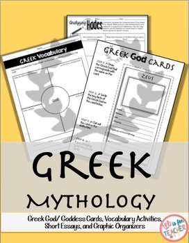 Greek Gods/ Greek Goddess Cards