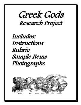 Greek Gods MLA Research Based Poster Project Bundle