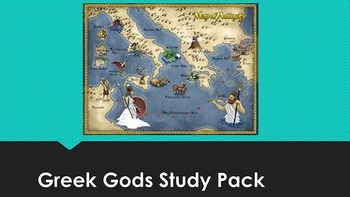 Greek Gods Mythology Study Pack