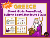 Greek Gods PowerPoint, Bulletin Board Handout & Quiz