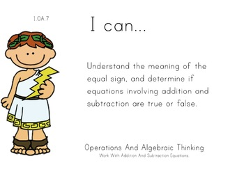 Greek Gods Theme 1st grade math Common Core Posters first