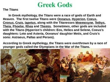 Greek Gods (Titans, Olympians, Hellenism, influence on Romans, planets & more)