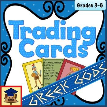 Greek Gods Trading Cards