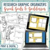 Greek Gods & Goddesses Research Graphic Organizers Bundle