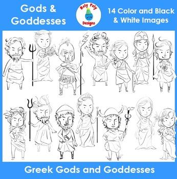 Greek Gods and Goddesses Clip Art Set