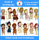 Greek Gods and Goddesses Clip Art Set