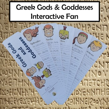 Greek Gods and Goddesses Interactive Fan