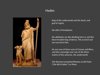 Greek Gods and Goddesses Powerpoint