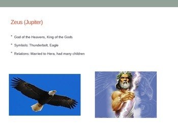 Greek Gods and Goddesses Review Power Point