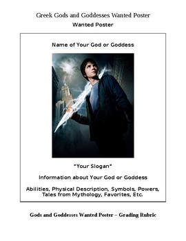 Greek Gods and Goddesses Wanted Poster