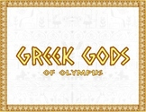 Greek Gods of Olympus Presentation and Worksheets
