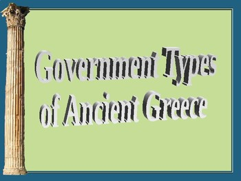 Greek Government Types
