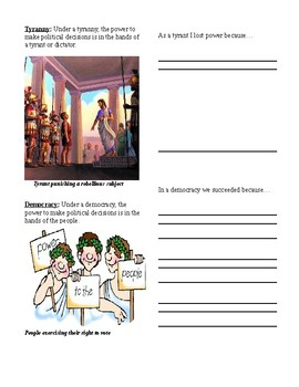 Greek Government Types Powerpoint Worksheet