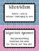 Greek Key inspired Grammar Guide Bulletin Board Printables