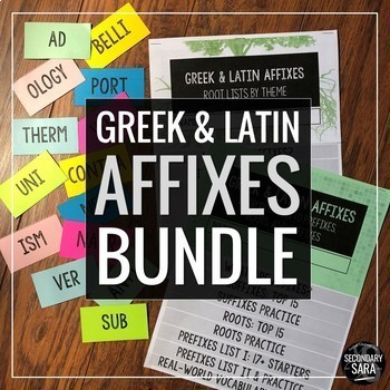 Greek & Latin Affixes Combo Bundle: Save 15% on Flashcards