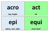 Greek & Latin Morphology Cards - Orton Gillingham