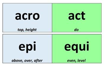 Greek & Latin Morphology Cards - Orton Gillingham