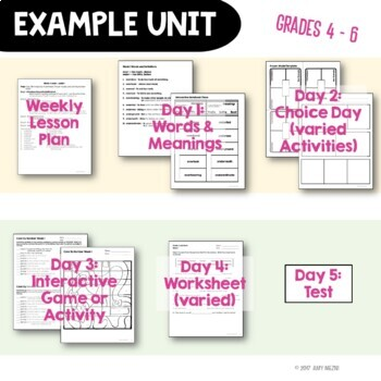 Greek & Latin Prefix Suffix Root Interactive Notebook Study 40 Week Set BUNDLE