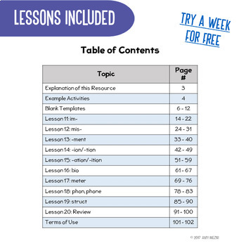 Greek & Latin Roots 10 Week Study : Lesson Plans, Games+ UNIT 2 Grades 4 5 6