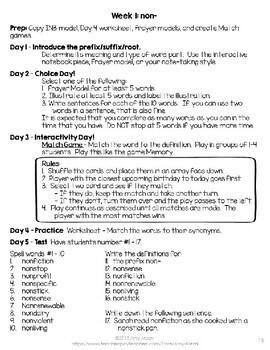 Greek & Latin Root Study Week 1 non-  FREEBIE   5 Days of Activities!