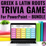 Greek and Latin Roots Trivia Game for the SMART Board