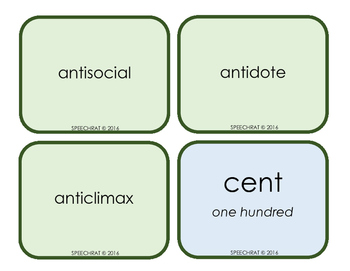 Greek and Latin Root Word Cards to Build Vocabulary