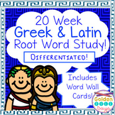 Greek and Latin Root Word Study Differentiated, CCSS Aligned Posters Incl!