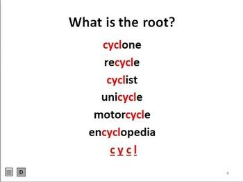 Greek & Latin Root Word: cycl