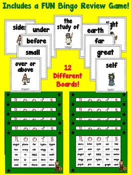 Greek & Latin Root Words Year Long Bundle (3rd, 4th, 5th grades)