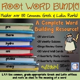 Greek & Latin Roots Yearlong Bundle for Intermediate Grades