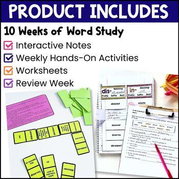 Greek & Latin Roots 10 Week Study: Lesson Plans, Games+ UNIT 5 Grades 4 5 6