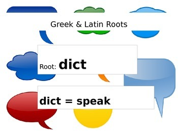 Root Words: dict
