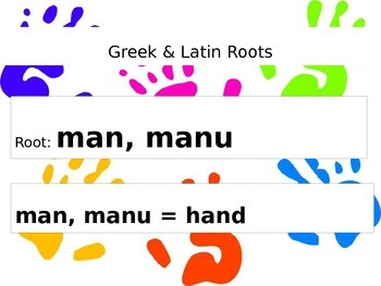 Root Words: mani/manu