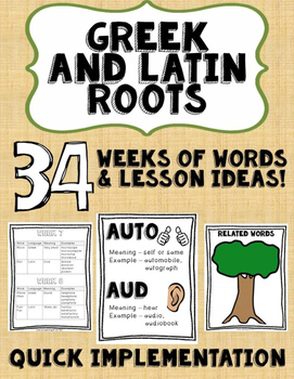 Greek and Latin Roots: A Unit Study