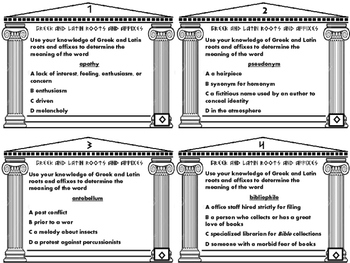 Greek & Latin Roots/Affixes Differentiated 5 Task Cds/Invent-a-Word Task gr. 6-8