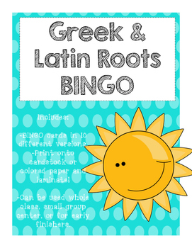 Greek & Latin Roots BINGO