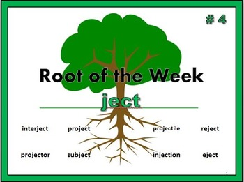 Greek & Latin Roots Bundle 1: spec, struc, cycl, ject