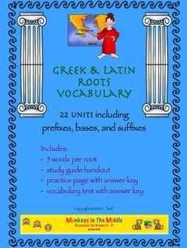 Greek & Latin Roots Bundled Units