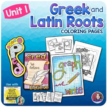 Greek and Latin Roots Activities - UNIT 1