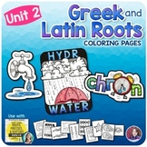 Greek and Latin Roots Activities - UNIT 2