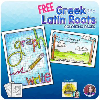Greek and Latin Roots - FREE Printable Activity Pages by Heidi Babin