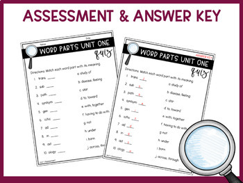 Root Words, Prefixes, & Suffixes Unit 1 FREE
