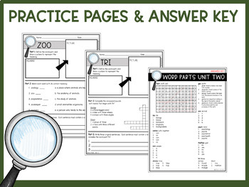 Greek & Latin Roots, Prefixes, & Suffixes Unit 2 Workbook