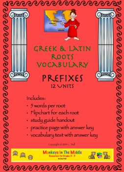 Greek & Latin Roots Prefixes Unit