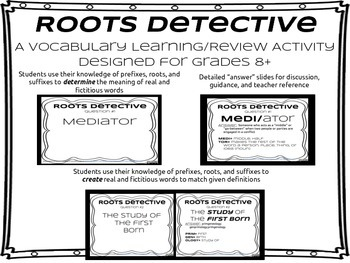 Greek & Latin Roots ReviewGame- Roots Detective