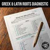 Greek & Latin Roots, Suffixes, and Prefixes: EDITABLE Diagnostic Test