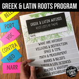 Greek & Latin Roots, Suffixes, and Prefixes: Stations, Flipbooks, & Assessments