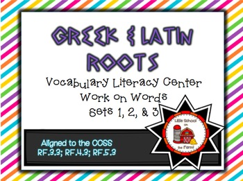 Greek & Latin Roots Vocabulary Interactive Station BUNDLE