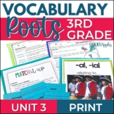Greek & Latin Roots Vocabulary UNIT 3 Word Study for Grades 3-4