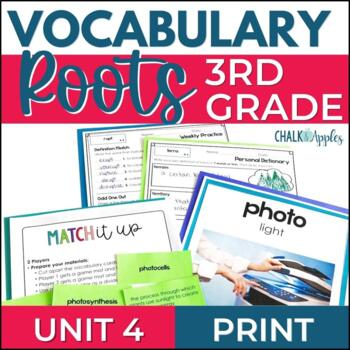 Greek & Latin Roots Vocabulary UNIT 4 Word Study for Grades 3-4